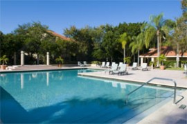 Resort style pools provide luxury relaxation at Vintage Grand on Palmer Ranch, Sarasota Florida.