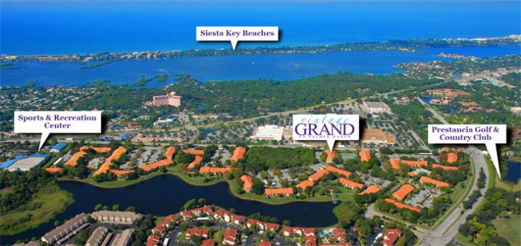 Vintage Grand on Palmer Ranch just a few short miles from Florida's Best Beach on Siesta Key.